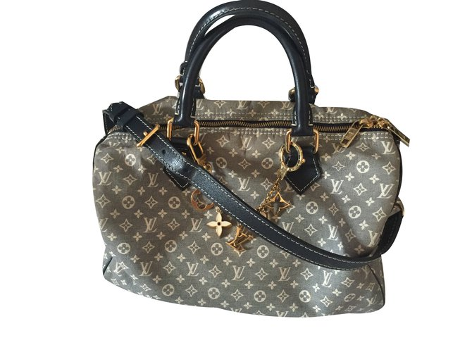 472ffb2ee19c Louis Vuitton Speedy 30 Handbags Cloth Blue ref.58381 - Joli Closet