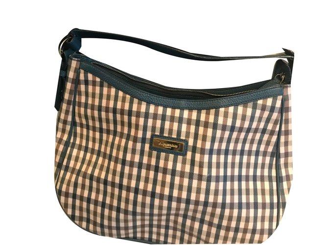 Aquascutum London Medium Handbag Hobo Limited Edition Handbags Leather Beige Ref 58385