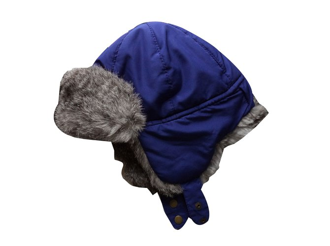 Foulards, écharpes enfants Jean Paul Gaultier CHAPKA FOURREE Polyester Bleu ref.58510