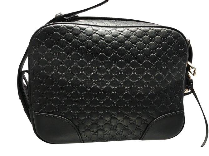 85ca6a25146b Gucci Signature gg web shoulder Clutch bags Leather Black ref.58516 ...