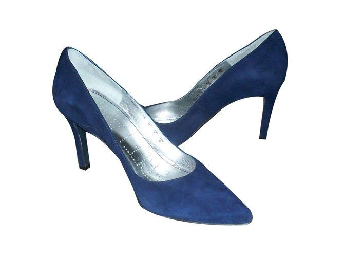 Escarpins Free Lance Escarpins bleu marine Daim Bleu Marine ref.58517 b4baa169f05e