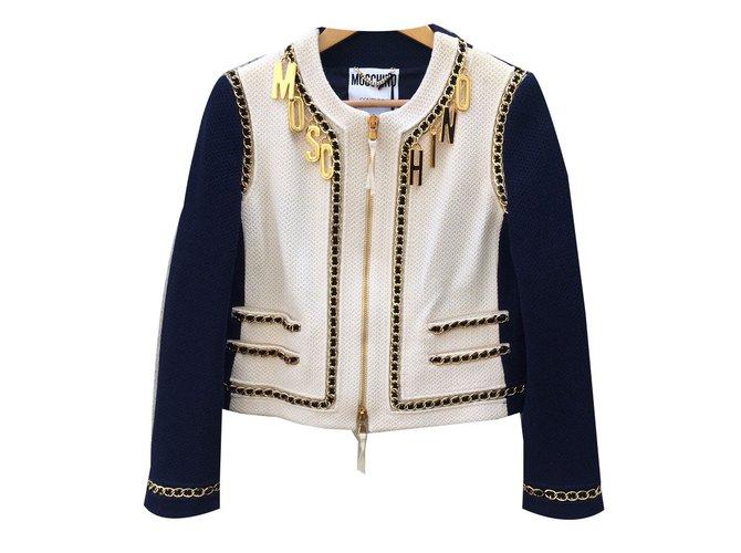 421bbffa1a3 Moschino Jackets Jackets Wool Cream,Navy blue ref.58711 - Joli Closet