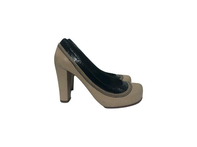 7bc6f9822f6 By Malene Birger Heels Heels Patent leather Cream ref.58840 - Joli ...
