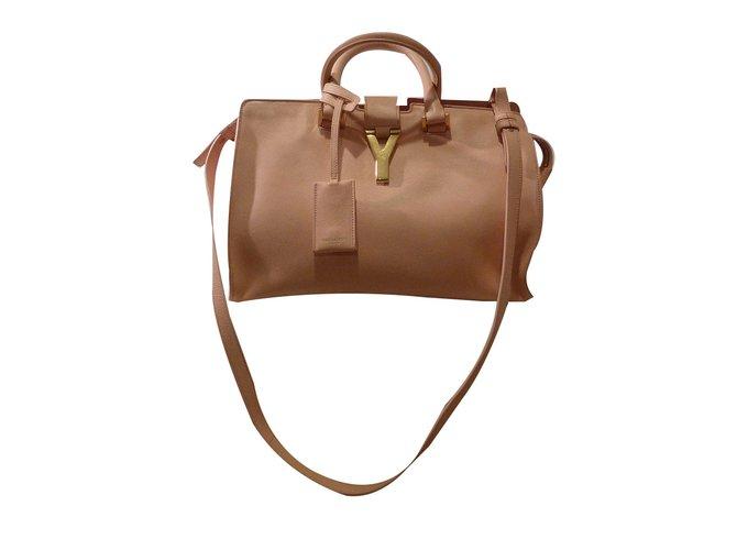 b8478c9c94 Saint Laurent Small Classic Cabas Handbags Leather Peach ref.58870 ...