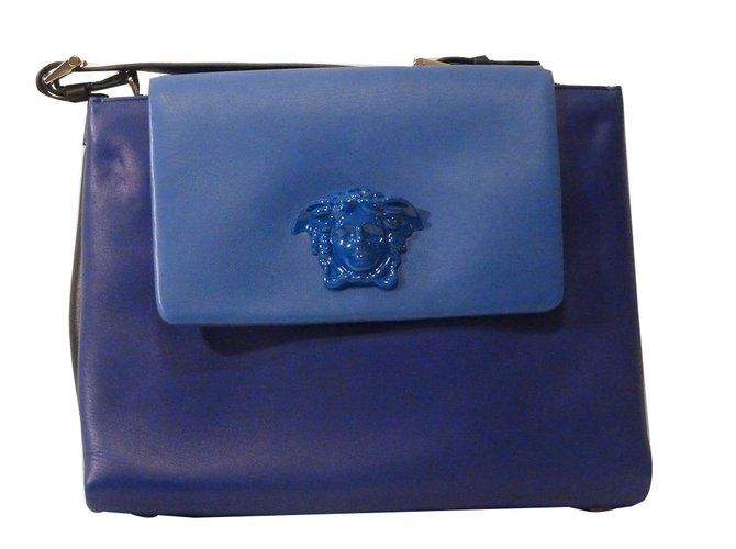 31b93a2f2ba2 Versace Medium Palazzo Satchel Bag Handbags Leather Purple ref.58875 ...