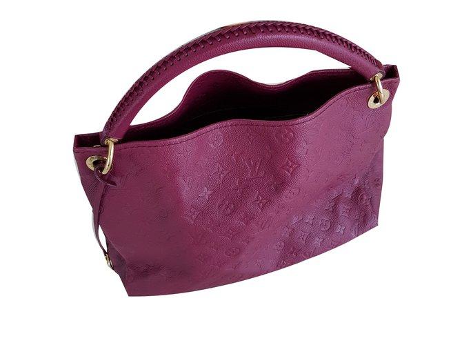 Louis Vuitton Artsy MM Handbags Leather Dark red ref.58890 - Joli Closet 0cdbf17006309