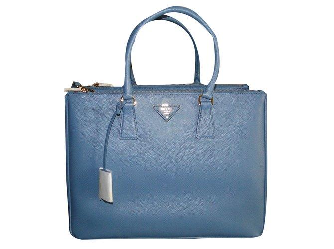 513af966a7c4 Prada Galleria saffiano Handbags Leather Blue ref.59043 - Joli Closet