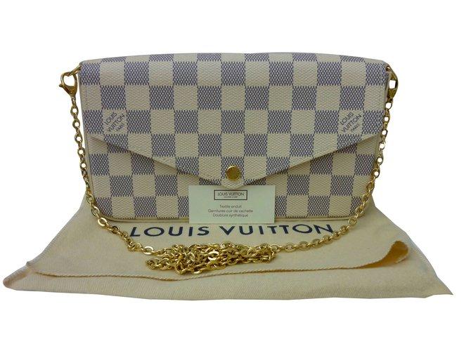 a9d7c9fbac93 Sacs à main Louis Vuitton Sac Pochette Louis Vuitton Félicie à damier azur  état neuf !