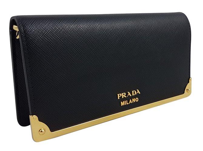 7616cef339123e ... promo code for prada prada wallet on chain purses wallets cases leather  black ref.59353