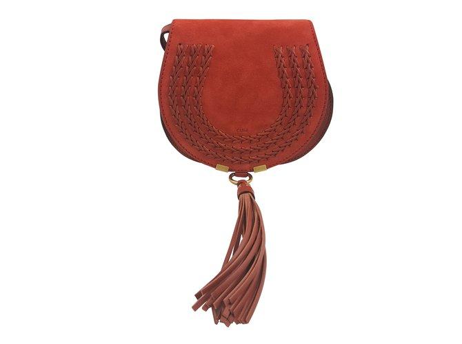 ac319bd58e Chloé MINI MARCIE BAG round saddle bag Handbags Suede Caramel ref.59416