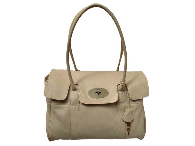 Mulberry Handbags Leather Beige Ref 59476