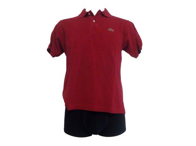 dfb6e4967dd Lacoste Polos Polos Cotton Red ref.59525 - Joli Closet