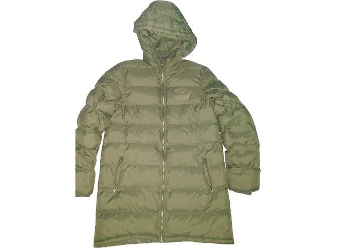 Guess Girl Coats outerwear Girl Coats outerwear Polyester Khaki ref.59543