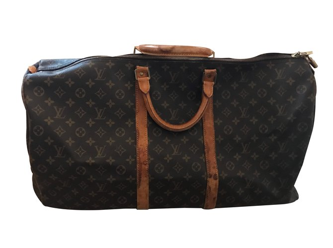 e60afc93634c Sacs de voyage Louis Vuitton Keepall 55 Cuir