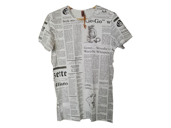 a0bd0dc6 John Galliano Tees Tees Cotton White ref.59704 - Joli Closet