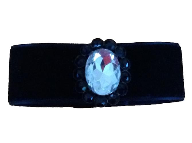 Christian Dior Necklaces Necklaces Velvet Black ref.59766