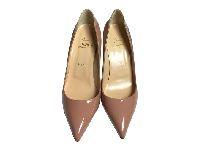 da0b0b3406a6 Christian Louboutin Pigalle Nude Patent Leather 85 mm Heels Heels Patent  leather Beige ref.59774