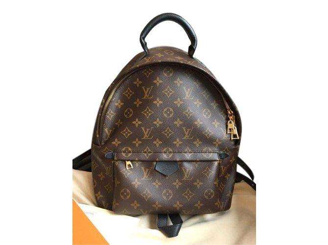 Sacs à dos Louis Vuitton Sacs à dos Palm springs Autre Marron ref.59821 8a0b4a1eb0d