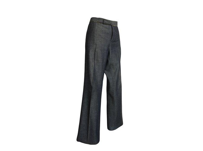 Barbara Bui Pants, leggings Dark grey Cotton  ref.59895