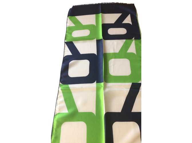 Foulards Lanvin Vintage années 60 grande écharpe en soie Soie Multicolore ref.59962