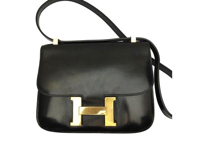 823e0f95270 Sacs à main Hermès Charmant Hermès Constance 23 en cuir box noir ! Cuir  Noir ref