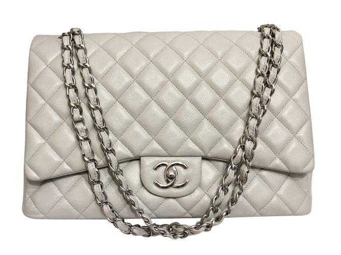 Sacs à main Chanel Sacs à main Cuir Gris ref.60074