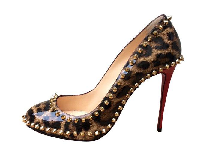 louboutin leopard print heels