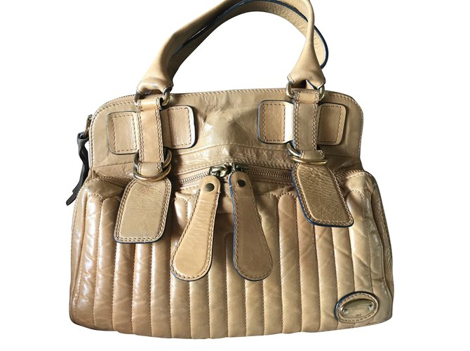 f20cd7ce1 Chloé Bay bag Handbags Leather Beige ref.60130 - Joli Closet