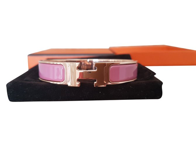 b3a264160d0c Bracelets Hermès Bracelet Email Clic Clac H Autre Rose ref.60174 ...