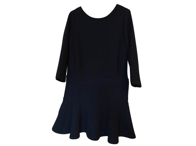 Robes Comptoir Des Cotonniers Robe Bulup Polyester Bleu Marine Ref