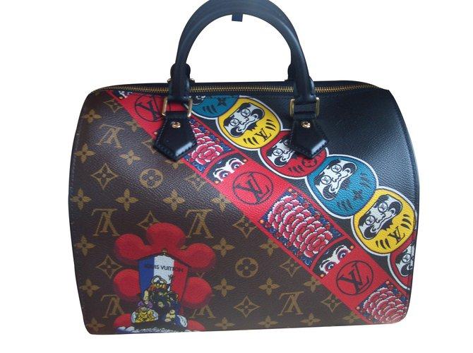 d3bbdc66916f9 Louis Vuitton Speedy Kabuki Handbags Leather Multiple colors ref.60301