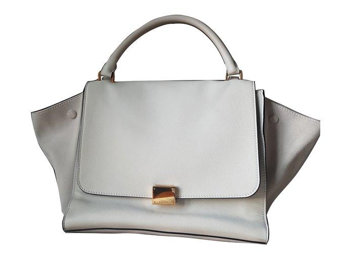 ba9db08932 Céline Trapèze Handbags Leather White ref.35737 - Joli Closet