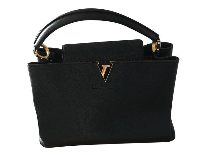 7af02f998a5 Louis Vuitton Capucine Handbags Leather Black ref.60626 - Joli Closet