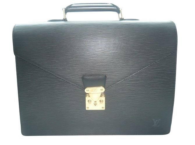 Louis Vuitton LOUIS VUITTON ORIGINAL AMBASSADOR  BRIEFCASE/SERVIETTE BLACK/NOIR LEATHER/CUIR EPI NEW/NEUF ! Purses, wallets, cases Leather Black ref.60628