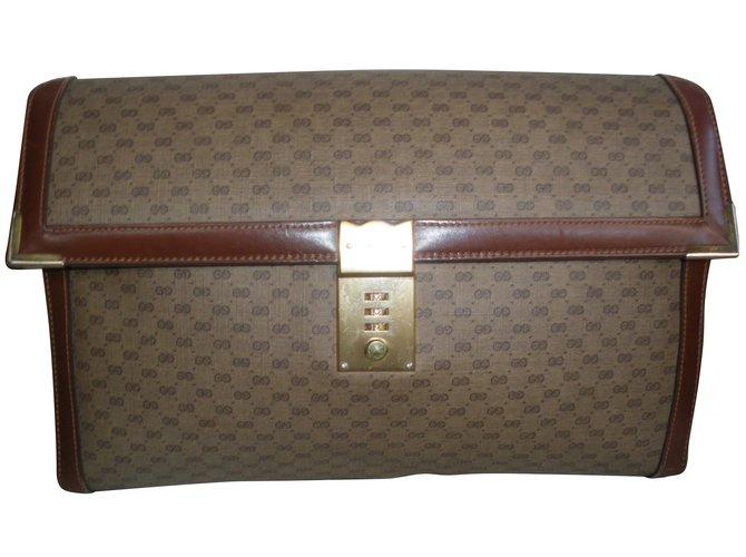 Pochettes Gucci Pochettes Toile Marron ref.60638