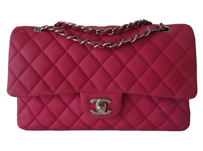 Chanel Handbags Leather Pink Ref 61115