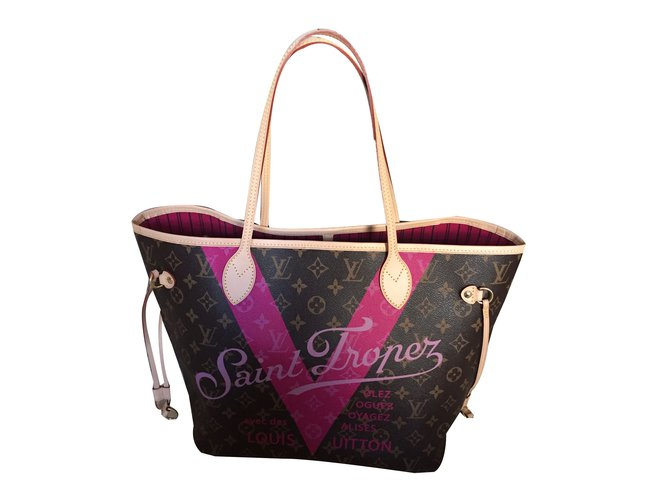 8b739ff6172 Louis Vuitton Neverfull MM Limited Edition Saint Tropez Handbags Other  Multiple colors ref.61155