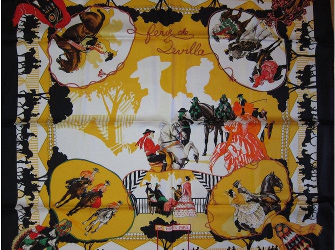 """Carrés Hermès """"Feria de Sevilla"""" Soie Multicolore ref.61163"""