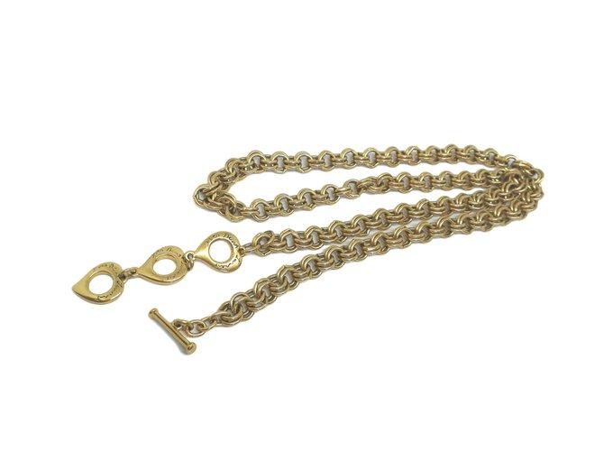 cb46a54a838 Yves Saint Laurent necklace Necklaces Metal Golden ref.61214 - Joli ...