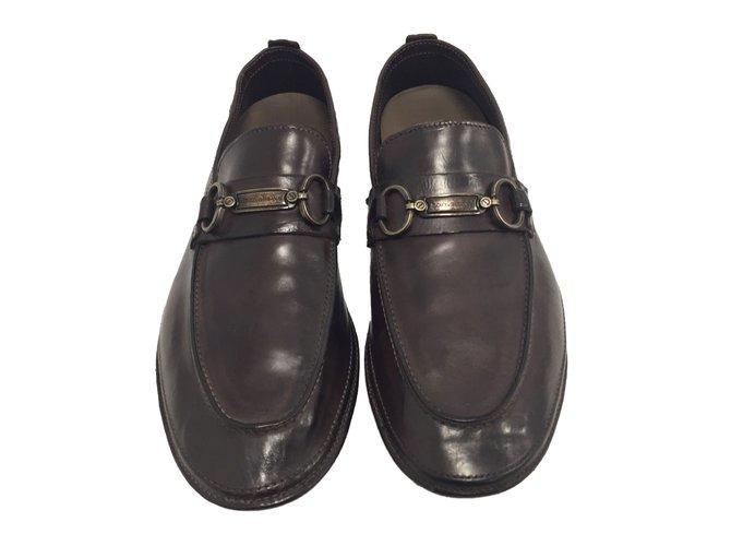 7801ef88cad Dolce   Gabbana Loafers Slip ons Loafers Slip ons Leather Dark brown  ref.61349