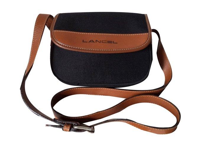 53d54ee251 Lancel Handbags Handbags Cloth Black ref.61434 - Joli Closet