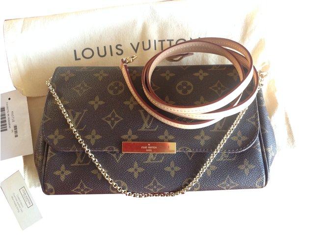 fb77e6d8c685 Louis Vuitton Louis Vuitton Favorite MM Handbags Patent leather Brown  ref.61471