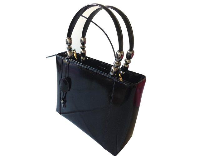 Dior Malice Handbags Patent Leather Black Ref 61486