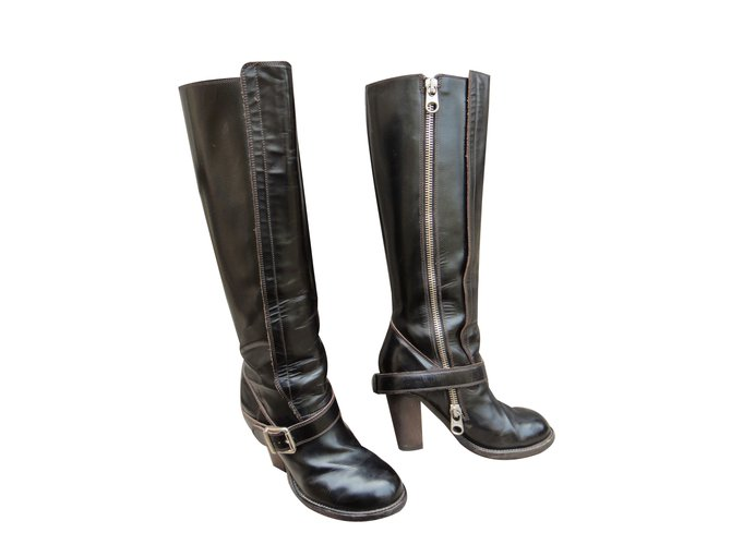 Chloé Boots Boots Leather Black ref.61532