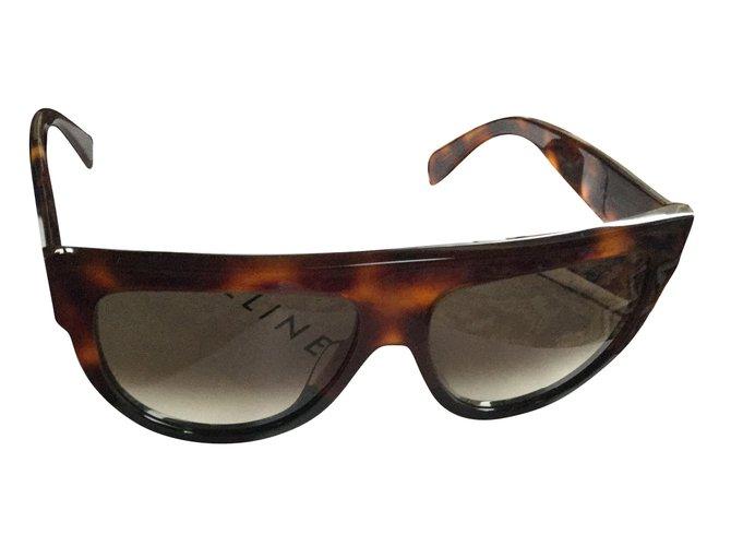 Céline Sunglasses Sunglasses Plastic Brown ref.61660