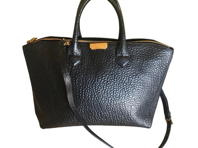 Burberry Handbags Patent Leather Black Ref 61735