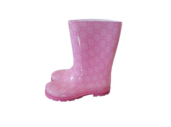 Bottes, bottines Gucci Bottes, bottines Autre Rose ref.61736