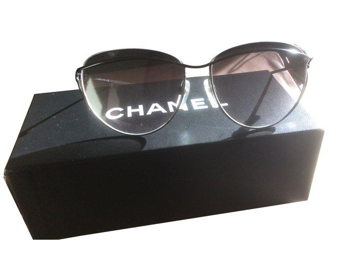 Lunettes Chanel Lunettes Métal Noir ref.61865 - Joli Closet 5bdc5207564a