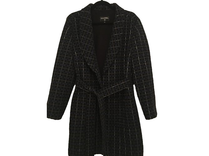 Chanel Coats, Outerwear Blue  ref.61886