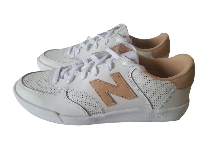 new balance 300 leather blanche